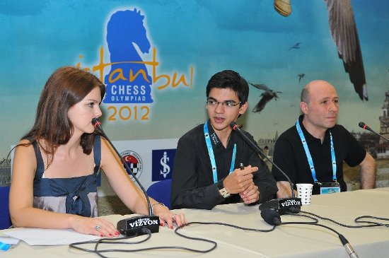 Press conference Anish Giri 1